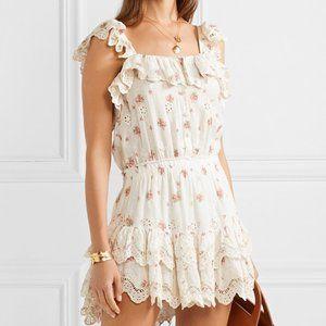 NWT Loveshackfancy marina dress french cream L